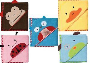 Skip-Hop-Zoo-Asciugamano-con-cappuccio-Bambino-Neonato-Bambini-Asciugamano-Da-Bagno-ANIMALI-BN