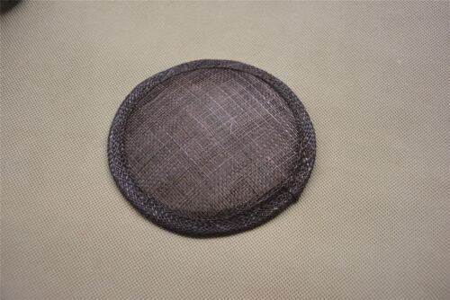 "4.7/"" Round Sinamay Hat fascinator Base Millinery Hat Making Craft Material B067"