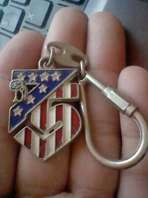 Bellissimo 1978 At Atletico Madrid Football Club Spain Keyring Llavero 75 Aniversary