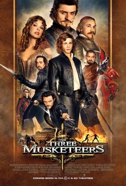 The Three Musketeers movie poster (a) Orlando Bloom poster - 11 x 17 inches