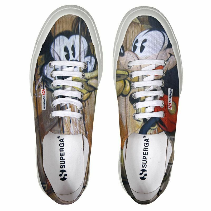 Scarpe SUPERGA cartoon 2750 DISNEY bloc2  cotu 958 topolino s004as0