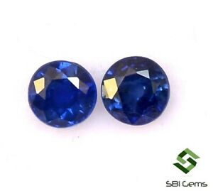 Certified-Natural-Blue-Sapphire-Round-Cut-Pair-4-mm-0-67-CTS-Ceylon-Loose-Gems