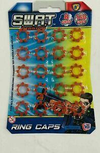 8 Shot Anello Caps - 20 Anelli - 160 SHOT CAP GUN Pistola giocattolo ANELLI migliore per bambini