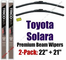Wipers 2 Pack Premium Wiper Beam Blades - fit 2001-2003 Toyota Solara 19220/210
