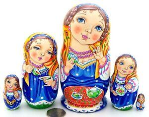 Martryoshka-Vinogradova-Tea-drinking-tradition-Russian-nesting-dolls-5-HAND-MADE