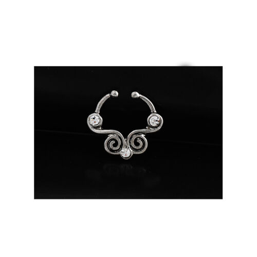 Fake Septum Clicker Nose Ring Non Piercing Hanger Clip On Jewelry Hotsale