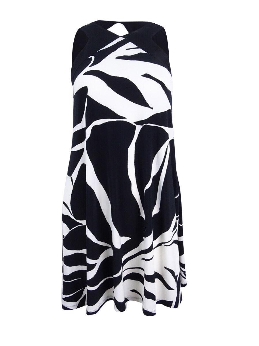 Lauren by Ralph Lauren Women's  Tropical-Print Trapeze Jersey Dress