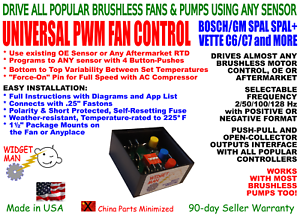 BRUSHLESS PWM VARIABLE FAN CONTROL, use existing sensor with SPAL and other BLDC