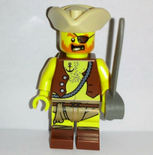 LEGO-Pirates-Pirate Capitaine Buccaneer équipage Mate man figurine