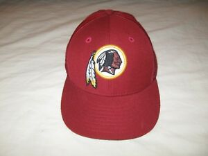 b3022597688 Washington Redskins Hat Cap Fitted 7 3/8 Mens NFL Skins WASH Reebok ...