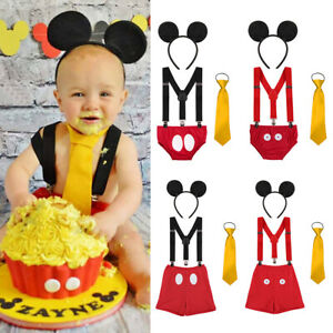 Image Is Loading Toddler Boys Birthday Mickey Mouse Outfits Bloomer Suspenders