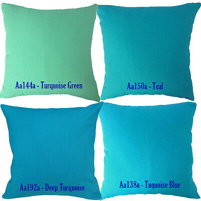 Aa Turquoise Teal Blue Green Cotton Canvas Pillow Case/Cushion Cover*Custom Size
