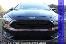 GTG 2015 - 2017 Ford Focus 1pc Gloss Black Replacement Upper Billet Grille Grill