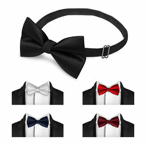 Classic-Fashion-Novelty-Mens-Adjustable-Tuxedo-Bowtie-Wedding-Bow-Tie-Necktie