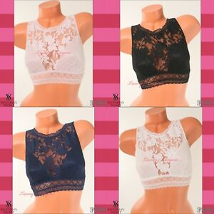 a519c428e0 VS VICTORIA S SECRET Unlined Bralette Light Wireless Top Lace M ...