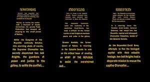 Details about Star Wars Episode 1 - 7 Force Awakens Opening Crawl Wall Art  Sticker