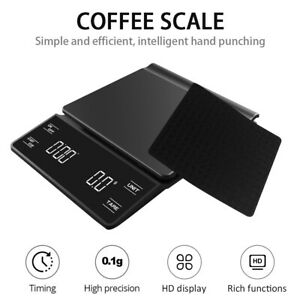 3kg/0.1g Smart Electronic Coffee Scale with Timer Portable Electronic Digital TA
