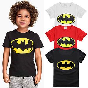 Kid-Boy-Batman-T-shirt-Casual-Tops-Summer-Shirts-Short-Sleeve-Tee-Cotton-Clothes