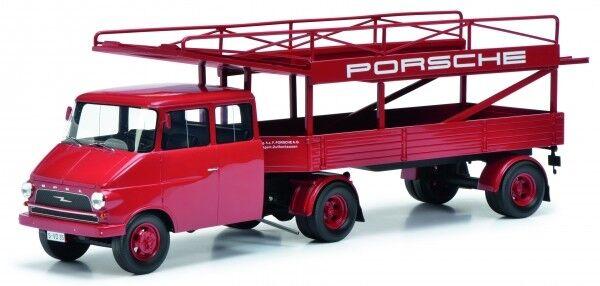 1  18 Schuco Opel Blitz Renntransporter Porsche 450008400