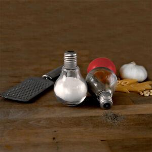 Saliere-et-poivrieres-en-formes-d-039-ampoules-Set-pour-condiments-Epices