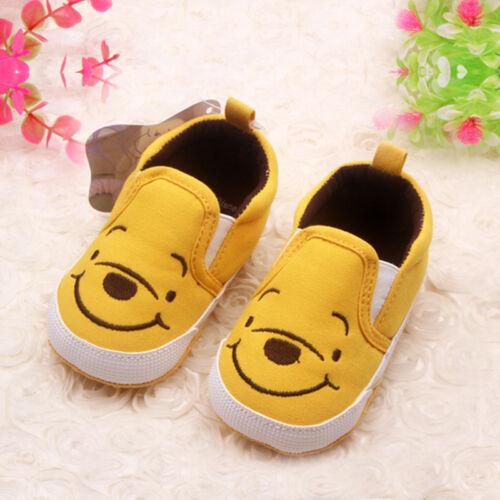 Infant Newborn Baby Boys Girls Cartoon Crawling Pram Prewalker Crib Sole Shoes
