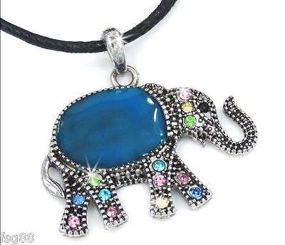 NEW Mood Color Change Penguin Crystal Rhinestone Pendant Necklace