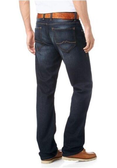 Mustang El Paso Jeans New W31-w34 L32 Men's Denim Trousers bluee Dark Rinsed
