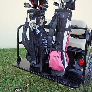 GOLF CART UNIVERSAL REAR BAG RACK BAR EZGO CLUB CAR YAMAHA | eBay Precedent Golf Cart Rear Bag Holder Racks on golf cart front bumper, golf cart safety bar, golf cart trails, golf cart rear-seat, golf cart umbrella mounting attachment, golf cart roll bar, golf bag storage rack, golf cart bag holder, golf cart trailers, golf cart cup holder, golf cart fog lights, golf cart storage racks, golf cart umbrella holder, golf cart straps, golf cart parts now, golf cart roof rack, golf cart roof lights, golf cart sand bottle holder, golf cart bag attachment, golf bag rack for motorcycle,