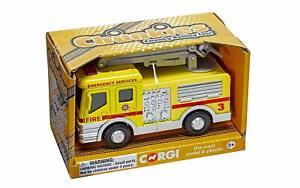 Corgi-Chunkies-Airport-Fire-Crane-Snorkel-U-K-Die-Cast-large-toy-vehicle