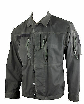 Austrian BLACK DYED Vintage F2 Ex Army Shirt Jacket Surplus G1