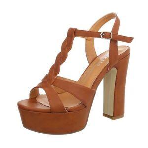 Scarpe-sandali-donna-con-tacco-alto-e-plateau-decollete-estive-Tacco-Largo-Sexy