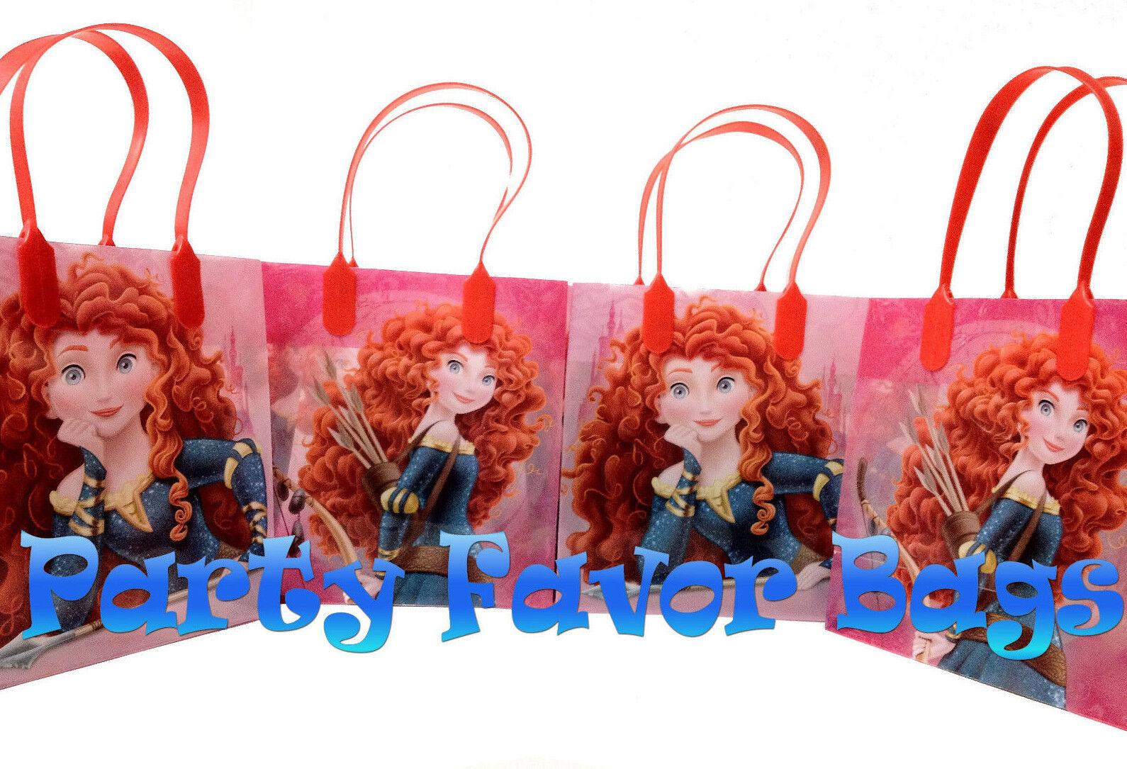 12 pcs Disney Rapunzel Party Favor Bags Candy Treat Birthday Loot Gift Sack Bag