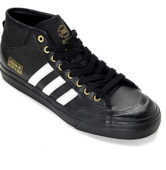 NEW 7-12 MENS ADIDAS x MATCHCOURT MID x SNOOP x ADIDAS GONZ LA STORIES BLACK SKATE SHOES 3caab2