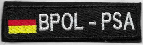Polizei BPOL PSA Bundespolizei KLETT Abzeichen BuPol Patch  Pol Schutz AUSLAND