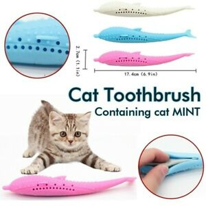 Soft-Silicone-Mint-Fish-Pet-Cat-Toy-Catnip-Clean-Teeth-Toothbrush-Chew-Cats-Toys