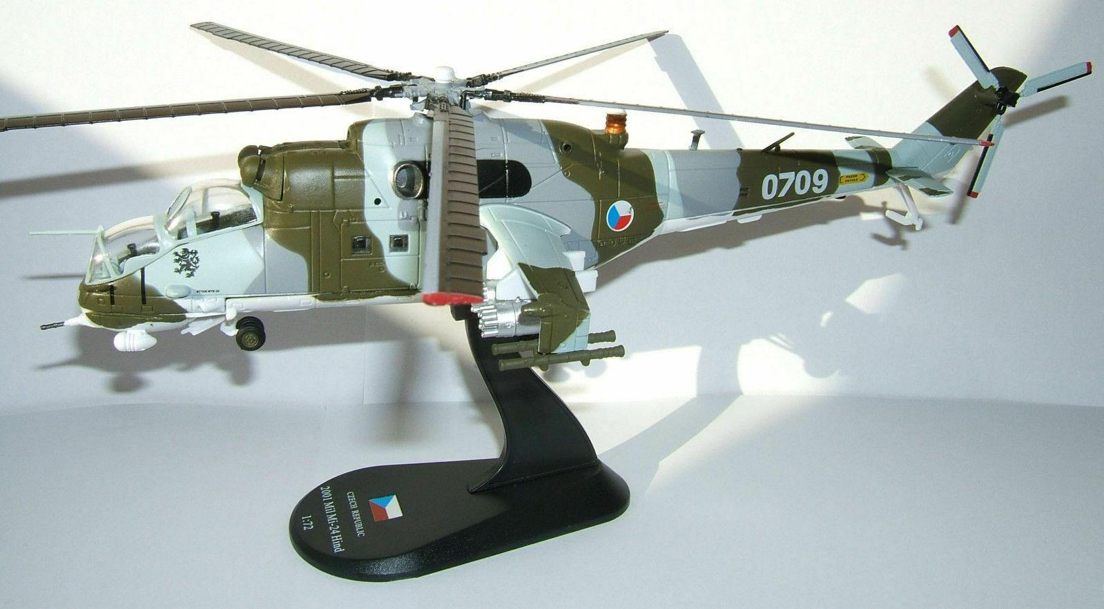 Elicottero di attacco russo Mil Mi-24 Hind diecast 1 72 mettuttio