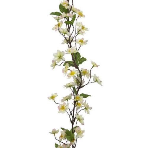 6ft Apple en Soie Artificielle Rose Blossom guirlande crème 180 cm Décoration de printemps
