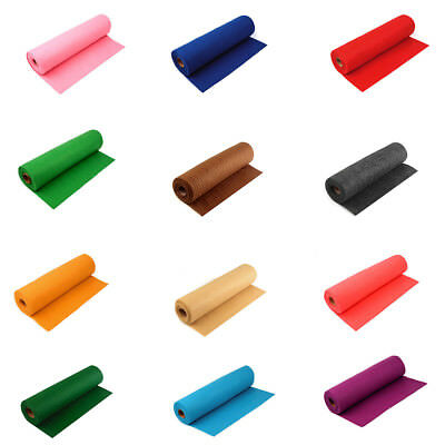 0,7m Filz ROLLENFILZ 1,4mm Meterware Filzstoff 15 Farben