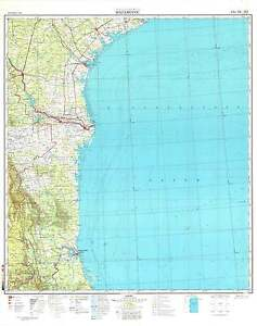 Russian Soviet Military Topographic Maps - MATAMOROS (Mexico) 1:1M ...