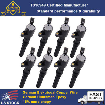 Ignition Coil 8 Pack For Ford Multispark Blaster Epoxy 4.6L 5.4L DG508 F150 F550