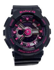 Casio BA111-1A Baby-G Ana / Digi Neon Pink Dial Black Resin Band Women Watch NEW