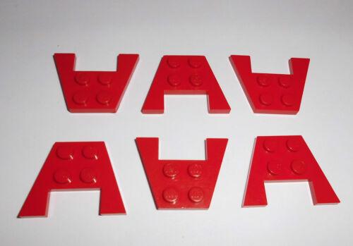 in rot aus 6345 6989 7186 7159 9335 4859 6 Flügelplatten 3x4 Lego