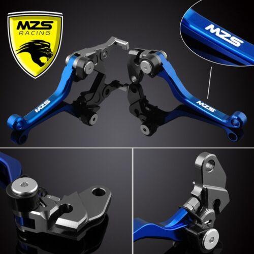 MZS Blue Pivot Clutch Brake Levers For Yamaha YZ80 2015-2017 YZ85 2015-2017 1set