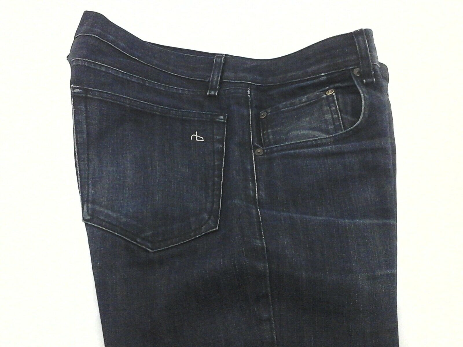 RAG & BONE RB Jeans 15X Slim Straight Handmade USA Dark bluee Men's 34 34