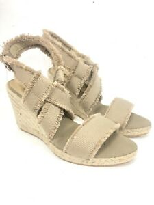 1212b2d931d Details about NEW Bettye Muller Wedge Espadrilles Slingback Sandals Shoes  Tan Women's EU 40