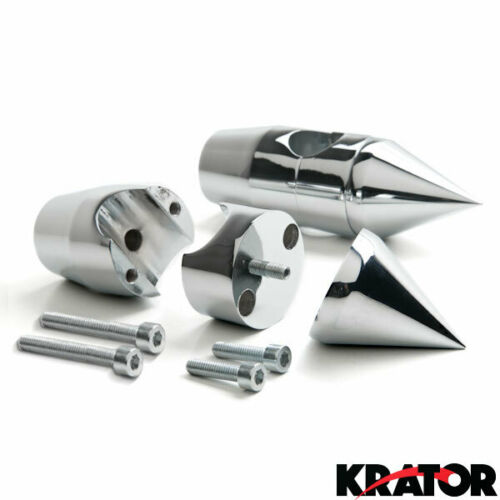 "Custom Chrome 1/"" Handlebar 2.25/"" Risers For Kawasaki Vulcan Classic Custom 900"