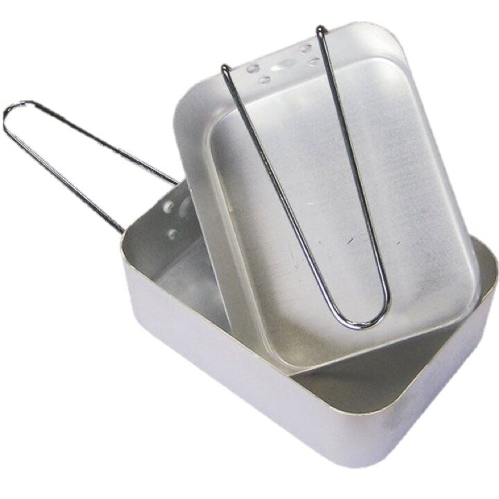 CAMPING X2 MESS TINS HIGH HIGH HIGH QUALITY BILLIE CANS ALUMINIUM COOKING PANS ARMY CADET 402298