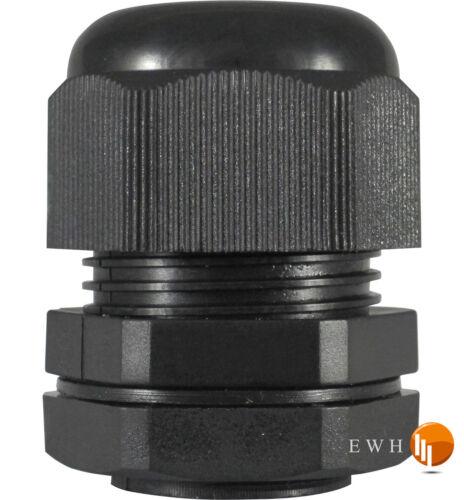 PG 21 Kabelverschraubung mit Gegenmutter schwarz Kabelverschraubungen PG21 NEU