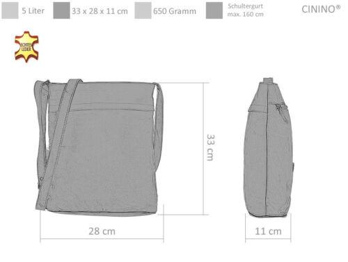 Handtasche CININO 2 SHADE Ledertasche Leder Schultertasche 1465 Tasche Bag ROT