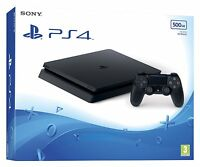 New Playstation 4 Jet Black Slim 500GB Console (New Model) FAST DELIVERY